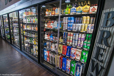 Many domestic, import, microbrews, and ciders